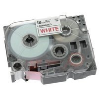Brother P-Touch TZe-242 18mmx8m Red On White Labelling Tape Ref TZE242 *3to5 Day Leadtime*