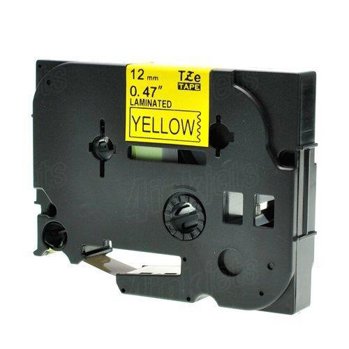 Brother P-Touch TZe-FX631 12mmx8m Black On Yellow Labelling Tape Ref TZEFX631 3to5 Day Leadtime