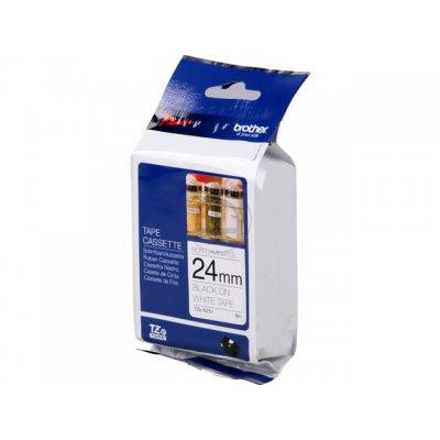 Brother P-Touch TZe-N251 24mmx8m BlackOnMatt White Non-Lam Lab Tape Ref TZEN251 3to5 Day Leadtime
