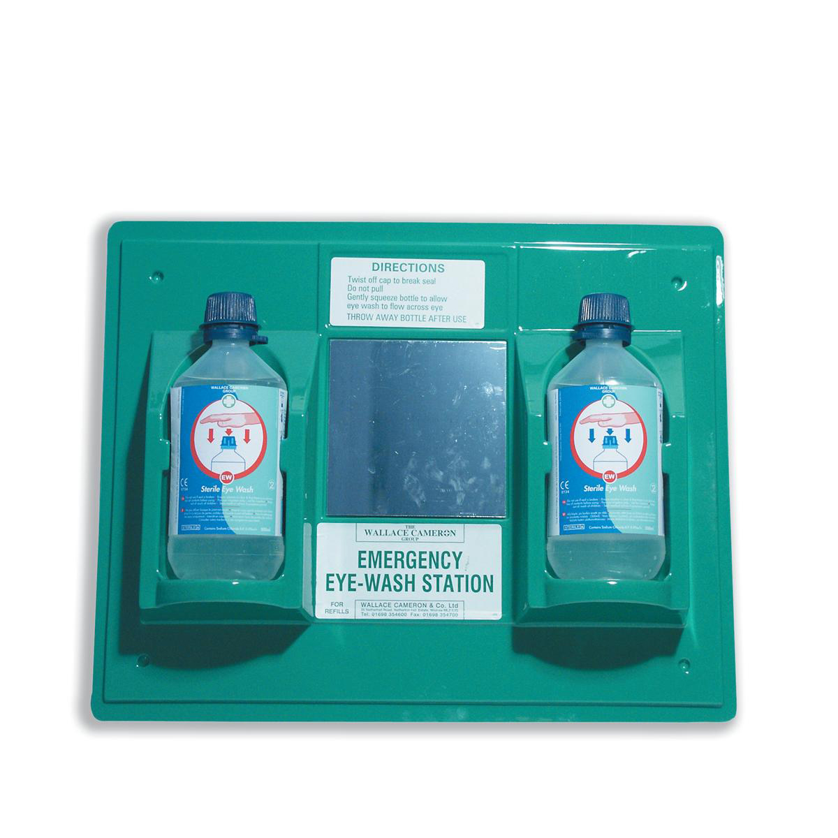 Wallace Cameron Astroplast First-Aid Emergency Eyewash Station 2 x 500ml Bottles Ref 2402028