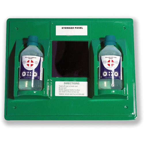 Wallace Cameron Astroplast First-Aid Emergency Eyewash Station 2 x 500ml Bottles Ref 2402028