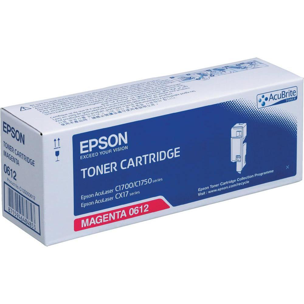 Epson S050612 Laser Toner Cartridge High Yield Page Life 1400pp Ref C13S050612 *3to5 Day Leadtime*