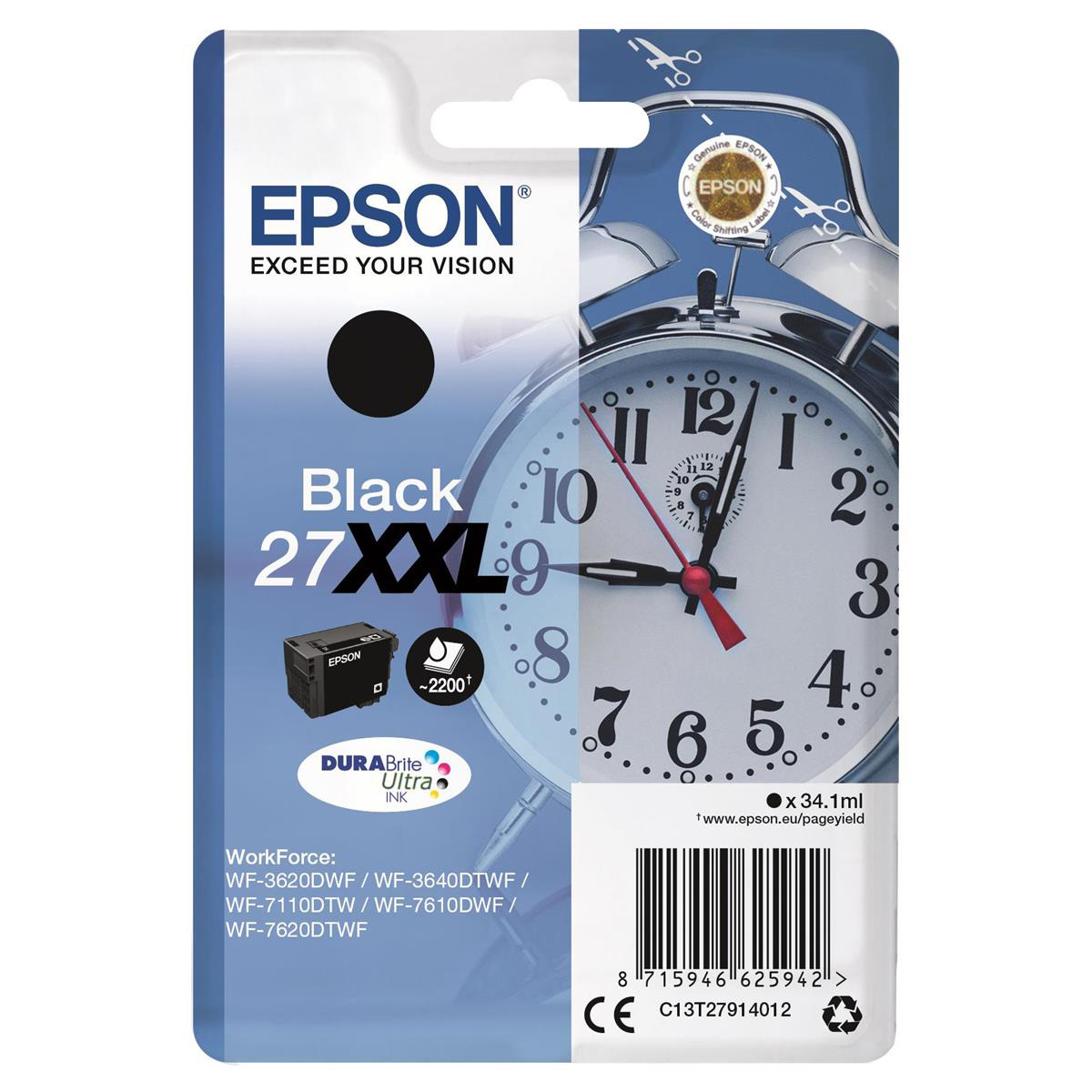 Epson 27XXL IJ Cart Black C13T27914012
