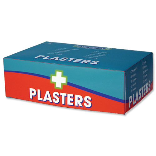 Wallace Cameron First-Aid Kit Blue Detectable Plasters 3 Assorted Sizes Oblong Ref 1214037 Pack 150