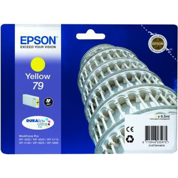 Epson 79 Yellow DURABrite Ultra Ink Cartridge 6.5 ml Single Pack Ref C13T79144010 *3 to 5 Day Leadtime*