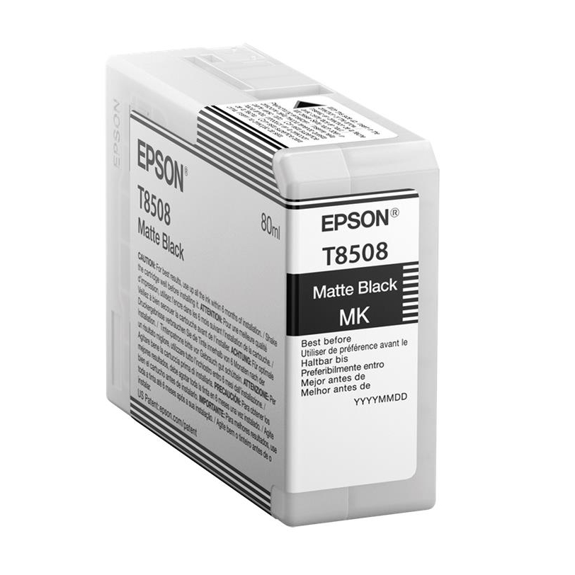 Epson T8508 Inkjet Cartridge 80ml Matte Black Ref C13T850800 *3to5 Day Leadtime*