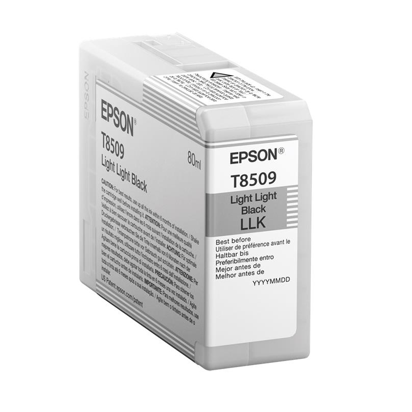 Epson T8509 Inkjet Cartridge 80ml Light Light Black Ref C13T850900 3to5 Day Leadtime