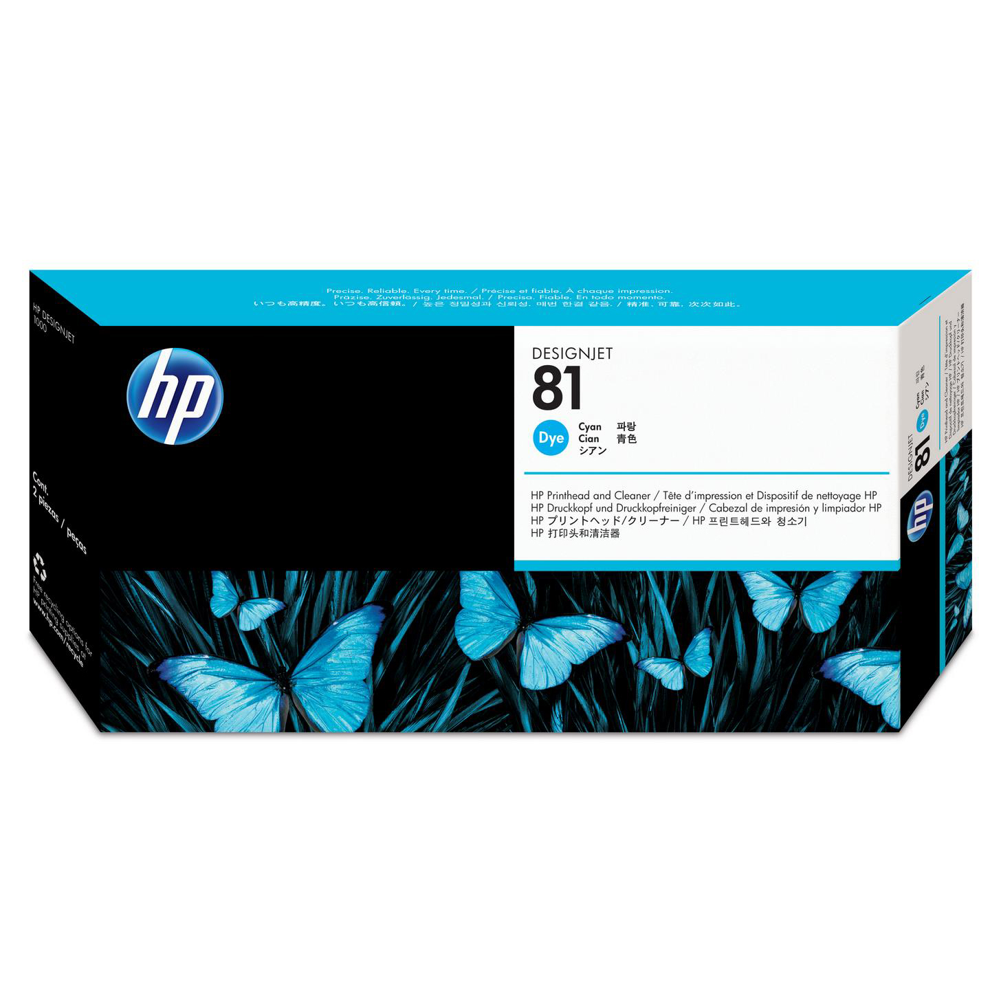 Hewlett Packard HP No.81 Printhead & Printhead Cleaner Cyan Ref C4951A *3to5 Day Leadtime*