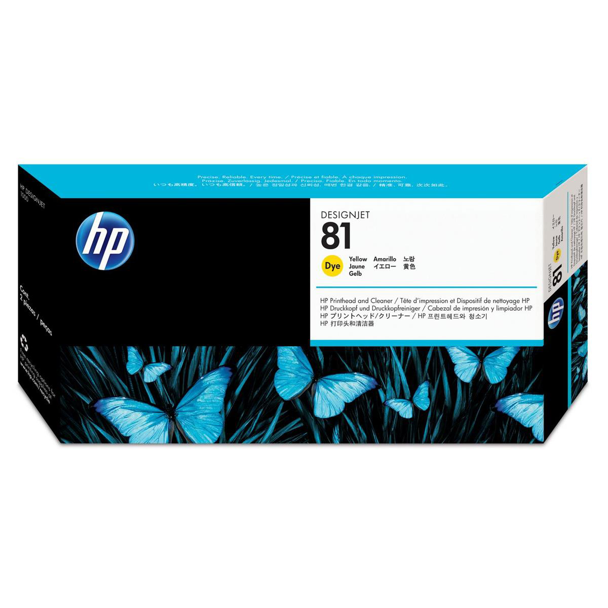 HP 81 Yellow Printhead and Printhead Cleaner for the 5000 and 5000PS Ref C4953A *3 to 5 Day Leadtime*