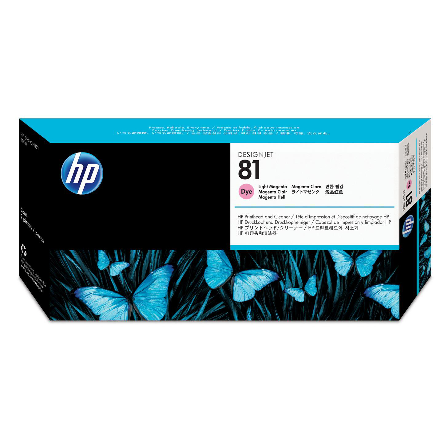 Hewlett Packard HP No.81 Printhead & Printhead Cleaner Light Magenta Ref C4955A *3to5 Day Leadtime*