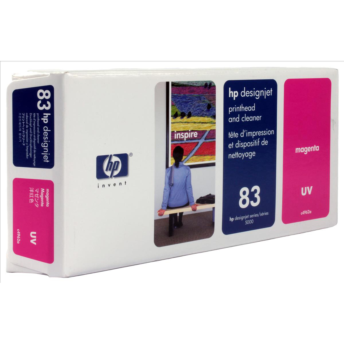 Hewlett Packard HP No.83 Printhead & Printhead Cleaner UV Magenta Ref C4962A *3to5 Day Leadtime*