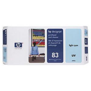 Hewlett Packard HP No.83 Printhead&PrintheadCleaner 13ml UV LightCyan Ref C4964A *3to5 Day Leadtime*