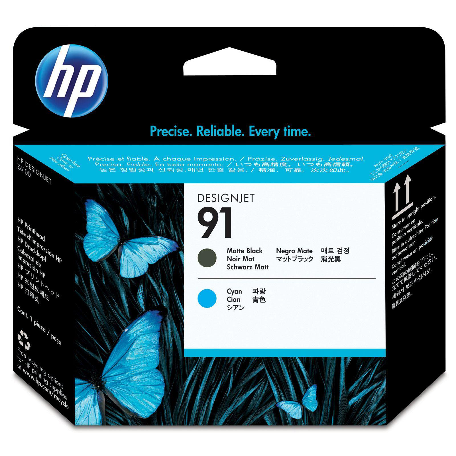 Hewlett Packard HP No.91 Printhead MatteBlack & Cyan Ref C9460A *3to5 Day Leadtime*