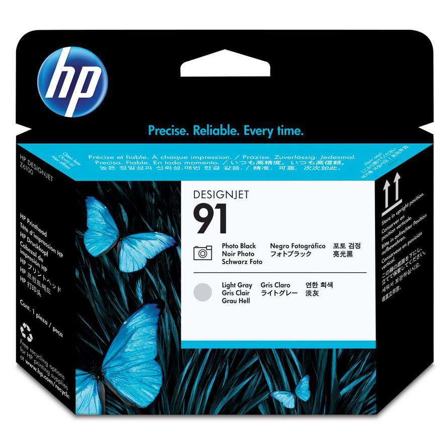 Hewlett Packard HP No.91 Printhead PhotoBlack & Light Grey Ref C9463A *3to5 Day Leadtime*