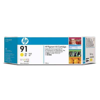 Hewlett Packard HP No.91 Inkjet Cart 775 ml Yellow Ref C9485A Pack 3 *3to5 Day Leadtime*
