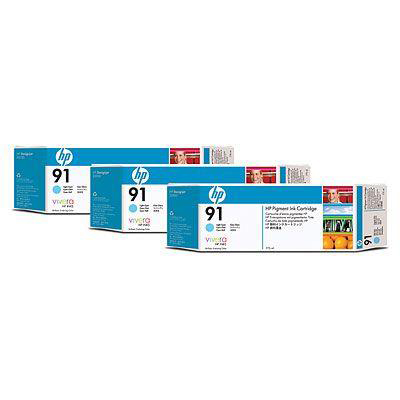 HP Bundle Multipack 3x91 Ink Cartridge 775 ml with Vivera Ink Light Cyan Ref C9486A