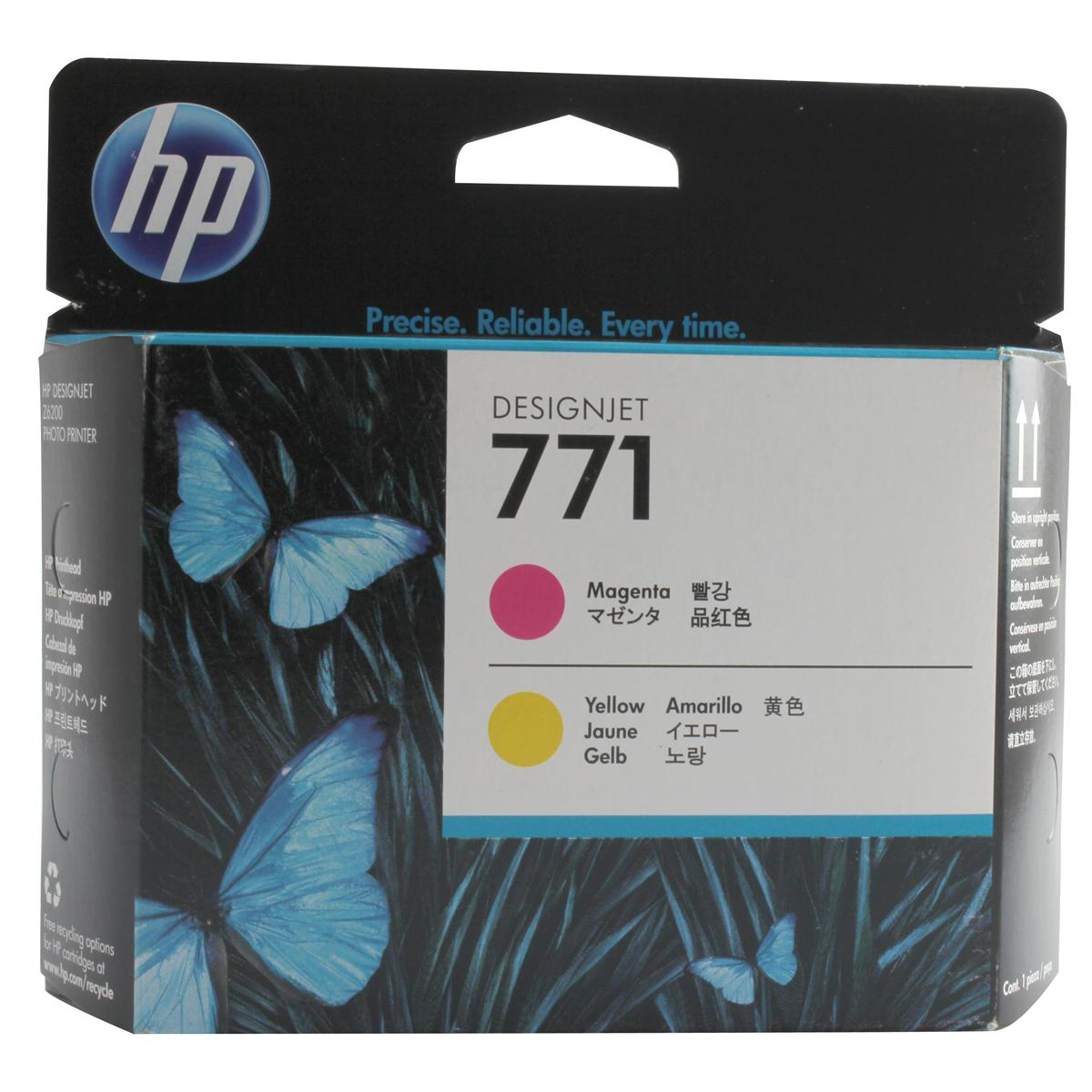 Hewlett Packard [HP] No.771 Printhead Magenta and Yellow Ref CE018A *3to5 Day Leadtime*