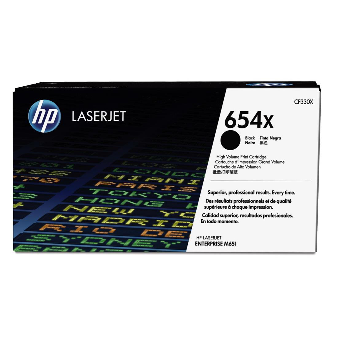 HP 654X Laser Toner Cartridge High Yield Page Life 20500pp Black Ref CF330X 3to5 Day Leadtime