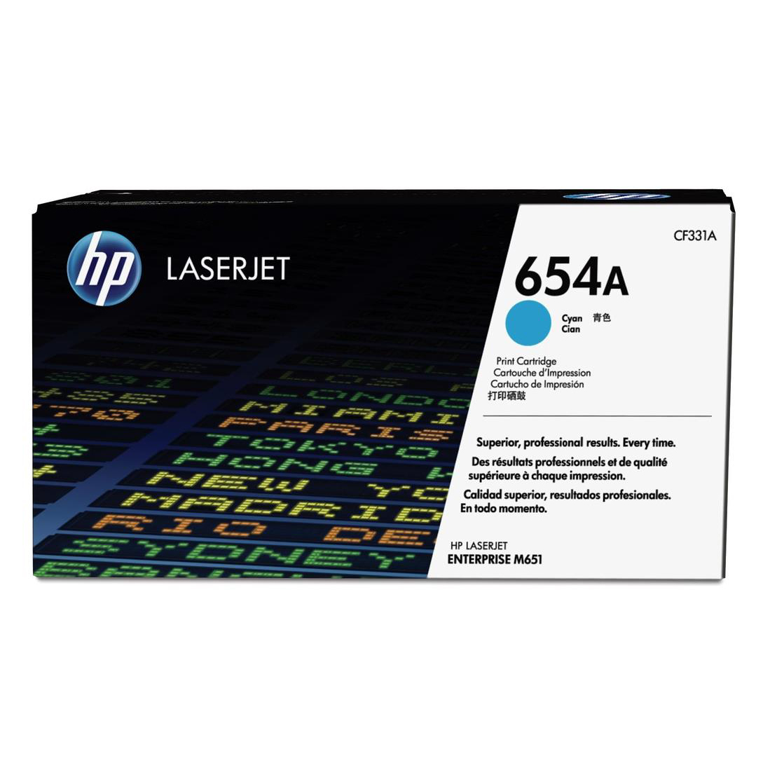 HP 654A Yield 15000 Pages Cyan Original LaserJet Toner Cartridge Ref CF331A