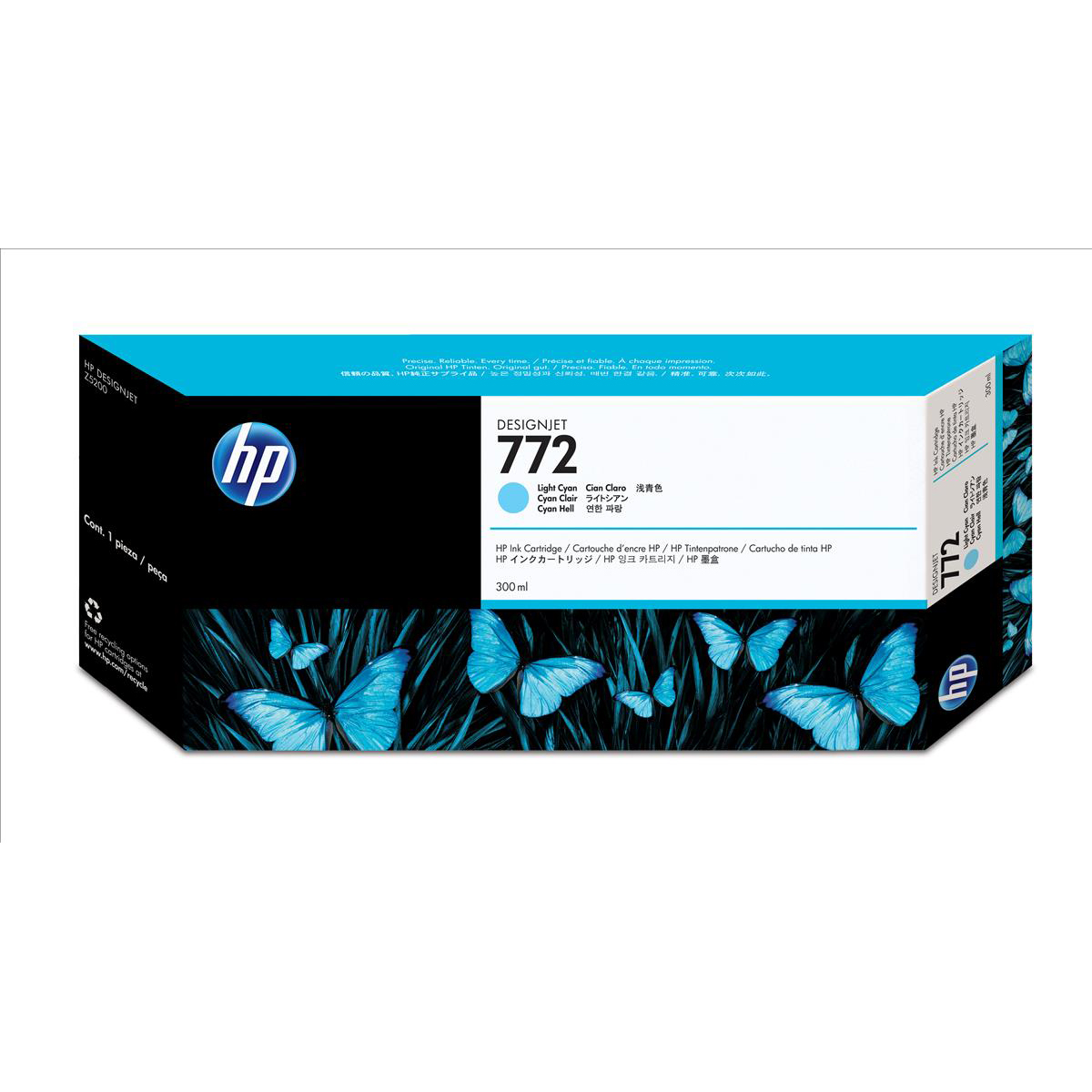 HP 772 LightCyan Ink Cart 300ml for HP Z5200 PostScript Printer Ref CN632A *3 to 5 Day Leadtime*