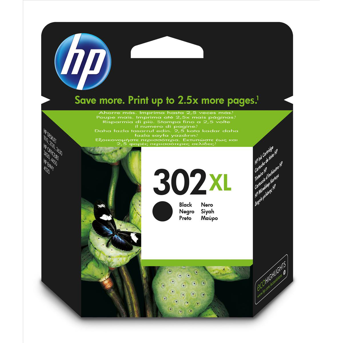 Hewlett Packard [HP] No. 302XL Ink Cartridge Black Ref F6U68AE