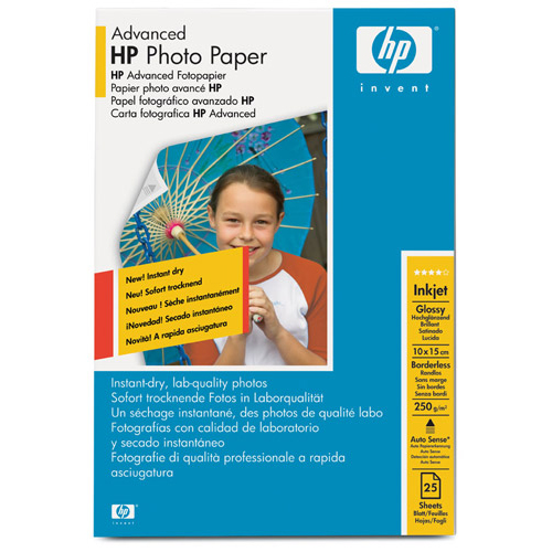 Hewlett Packard HPAdvanced Photo Paper Gloss 250gsm 10x15cm Ref Q8691A25 sheets *3to5 Day Leadtime*