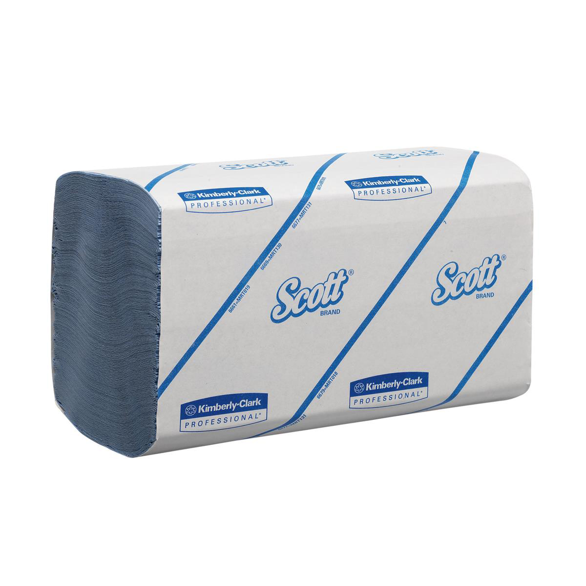 Hand towels Scott Performance Hand Towels Blue 1 Ply 315x215mm 212 Towels per Sleeve Ref 6664 [Pack 15 Sleeves]