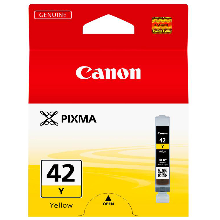 Canon CLI-42Y Inkjet Cartridge Page Life 284pp 13ml Yellow Ref 6387B001