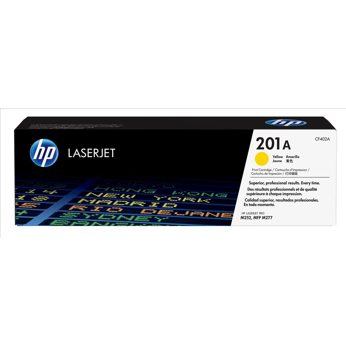 Hewlett Packard [HP] 201A LaserJet Toner Cartridges Page Life 1400pp Yellow Ref CF402A