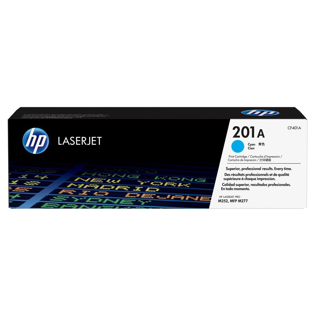 Hewlett Packard [HP] 201A LaserJet Toner Cartridges Page Life 1400pp Cyan Ref CF401A