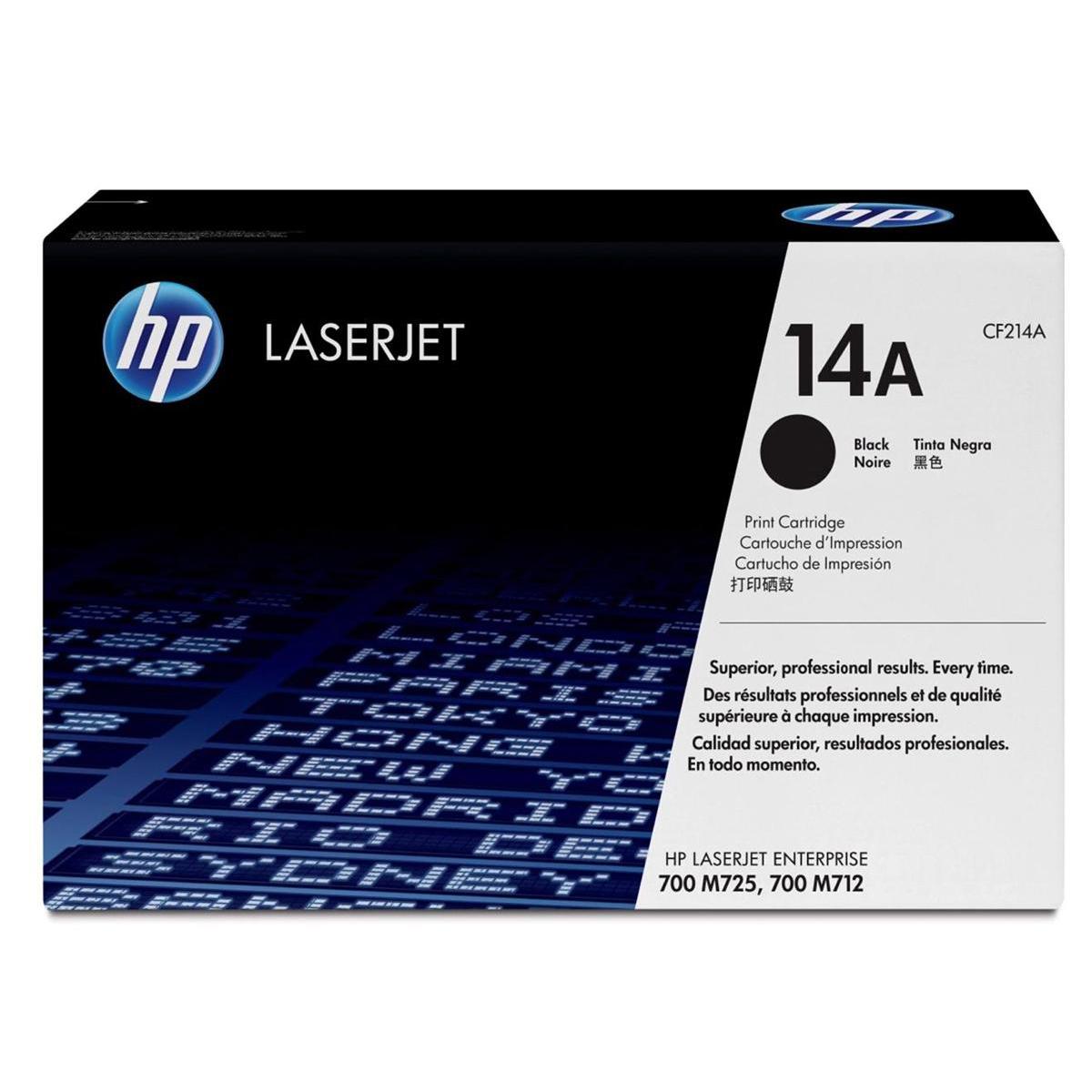 HP 14A LaserJet Toner Cartridges Page Life 10,000pp Black Ref CF214A