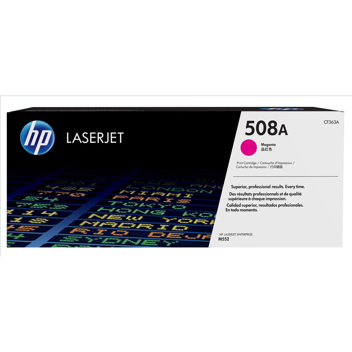 Hewlett Packard [HP] 508A LaserJet Toner Cartridge Page Life 5000pp Magenta Ref CF363A