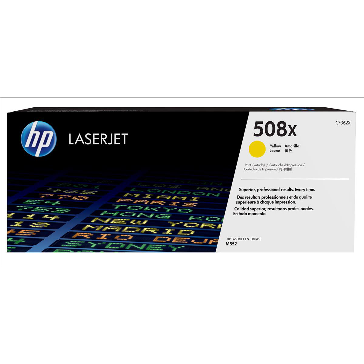 Hewlett Packard [HP] 508X LaserJet Toner Cartridge Page Life 12500pp Yellow Ref CF362X