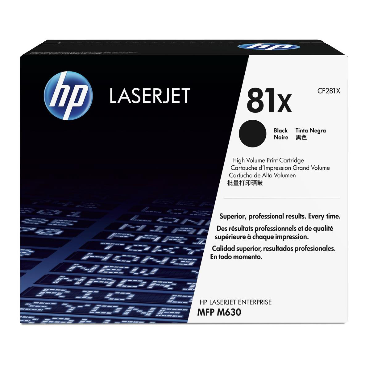 HP 81X Black LaserJet Toner Cartridge Page Life 25000pp Black Ref CF281X