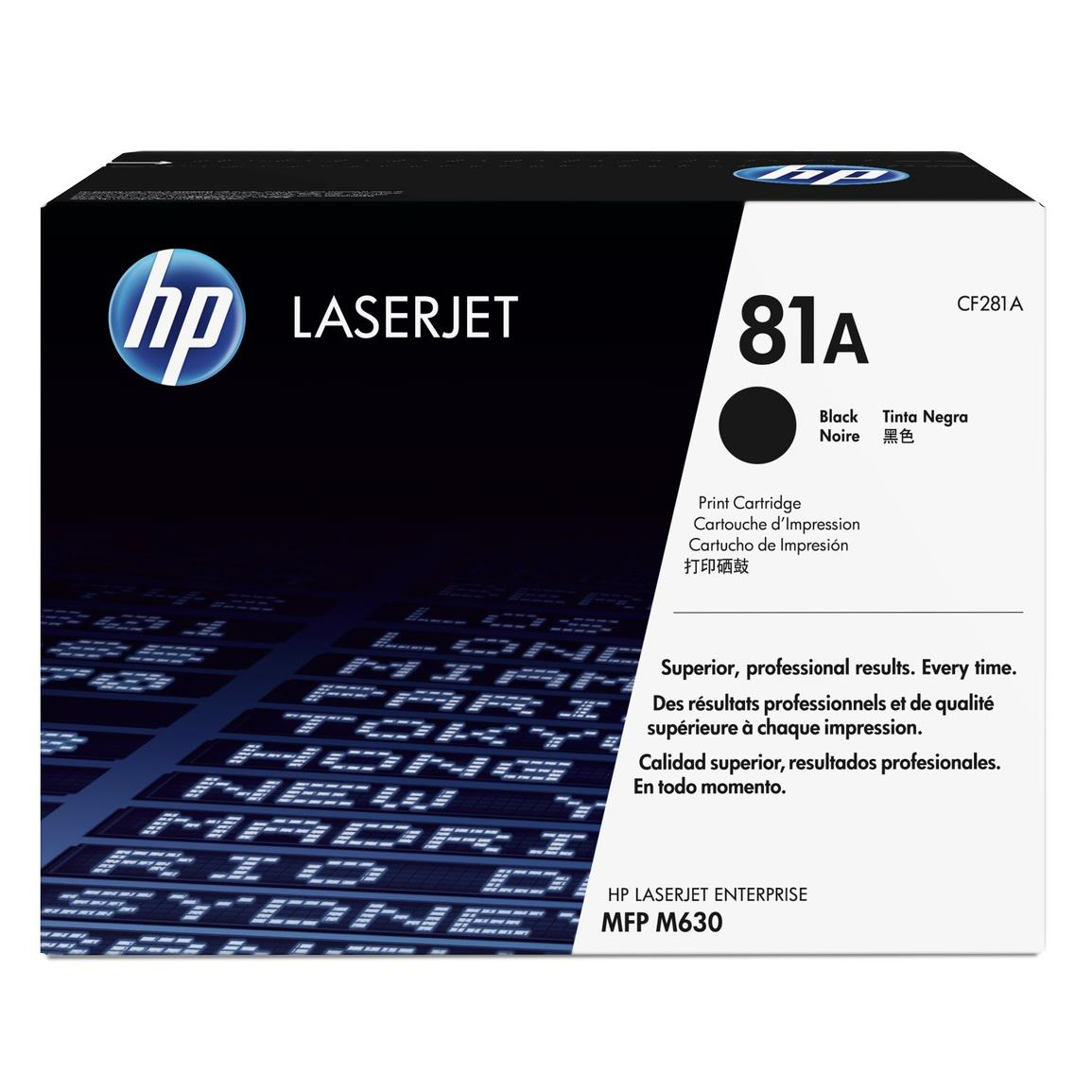 HP 81A Black LaserJet Toner Cartridge Page Life 10500pp Black Ref CF281A