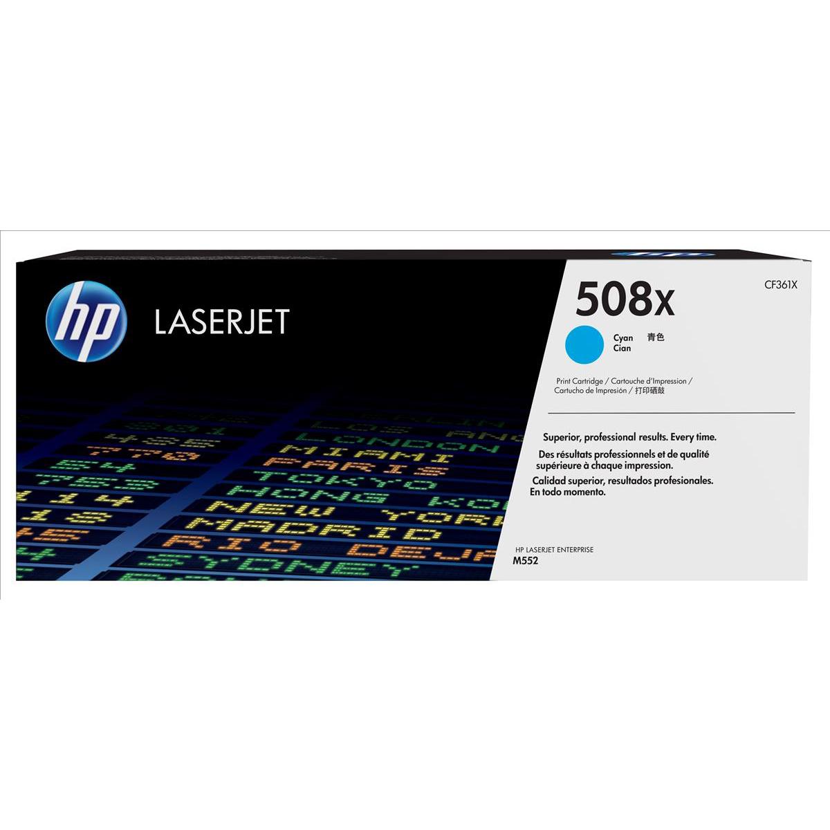 HP 508X Cyan High Yield Laserjet Toner Cartridge CF361X