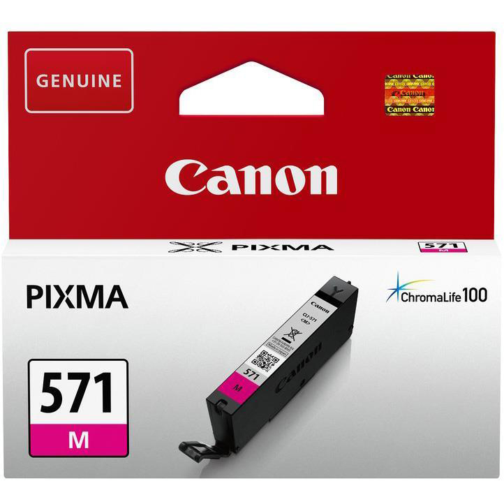 Canon CLI-571 InkJet Cartridge Page Life 182pp 7ml Magenta Ref 0387C001