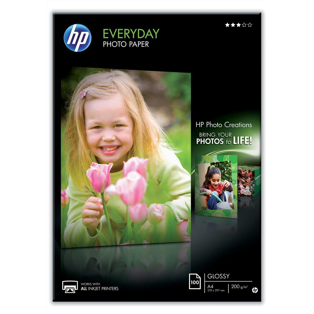 Photo Paper Hewlett Packard HP Everyday Photo Paper Glossy 200gsm A4 Ref Q2510A 100 Sheets