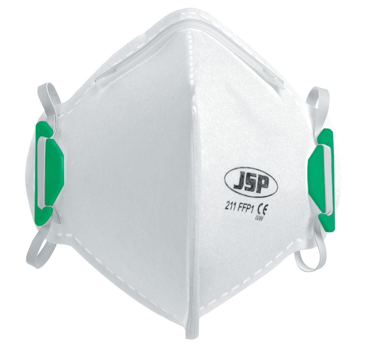 JSP Disposable Mask Fold-flat FFP1 Class 1 EN149:2001 & A1:2009 Standard Ref BEA110-101-000 [Pack 20]