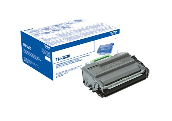 Brother Laser Toner Cartridge Ultra High Yield Page Life 20,000pp Black Ref TN3520