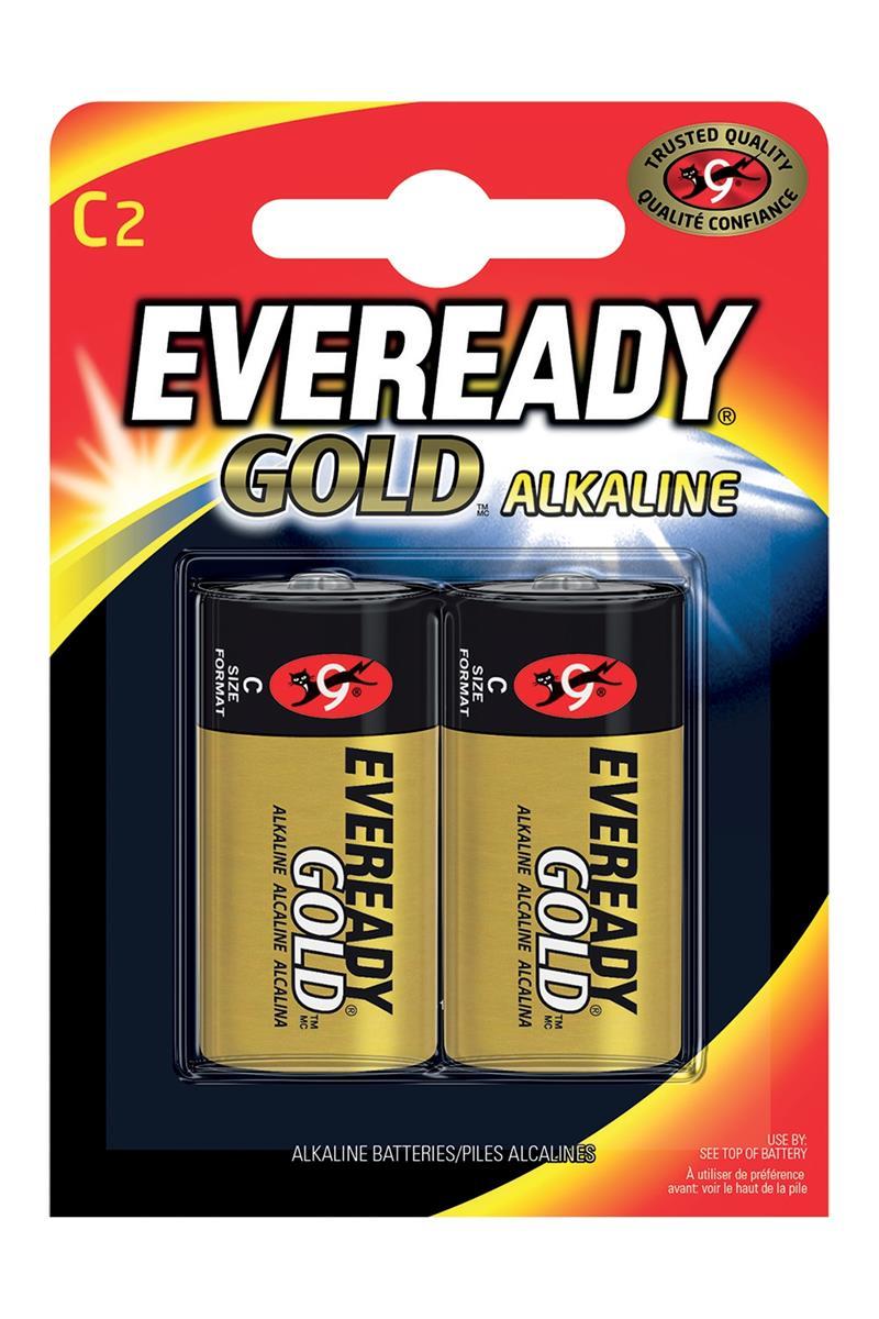 Eveready Gold Alkaline Batteries C/LR14 Ref E0087206 [Pack 2]