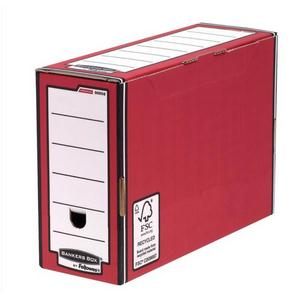 Image for Bankers Box by Fellowes Premium Transfer File Red and White Ref 00058-FF [Pack 10]