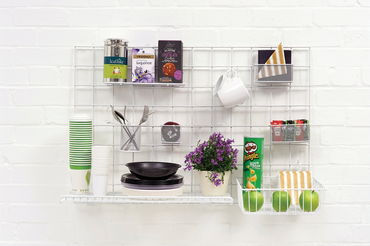 Image for Wall-Store Frame Multifunctional with Hooks and Trays 2 Shelves 600x1000mm