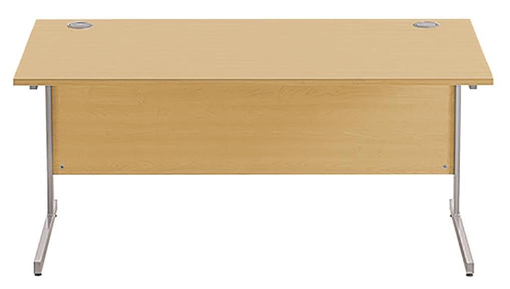 Image for Sonix Cantilever Desk Rectangular Silver Cantilever Leg 1600mm Natural Oak
