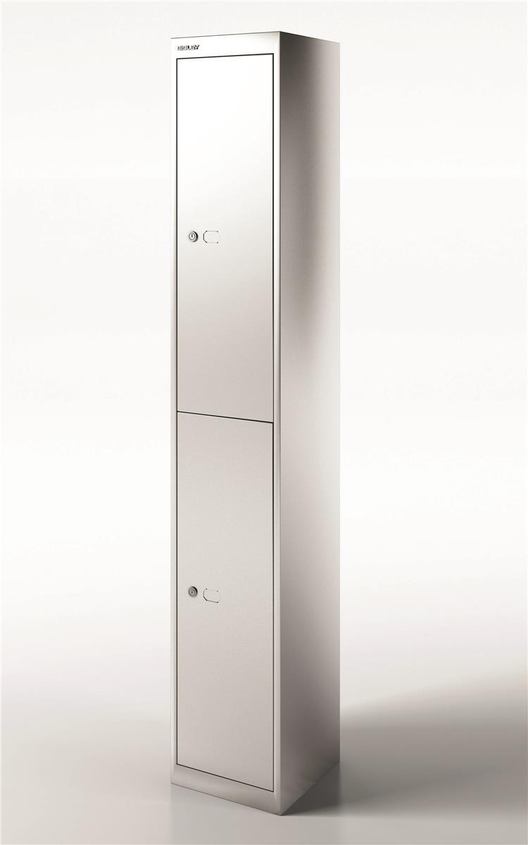 Image for Bisley Steel Locker 305 Two Door Silver