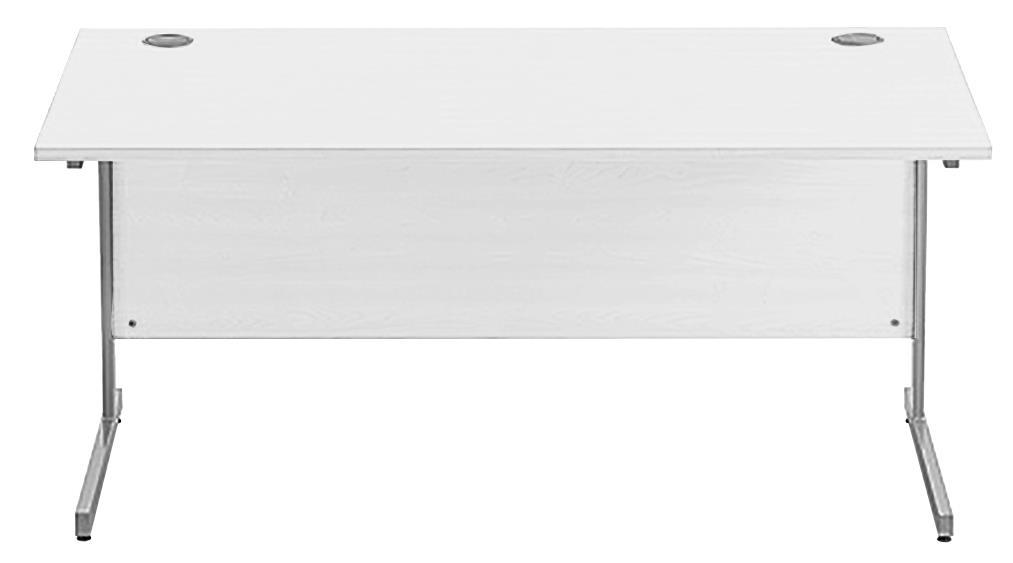 Image for Sonix Cantilever Desk Rectangular Silver Cantilever Leg 1600mm Polar White