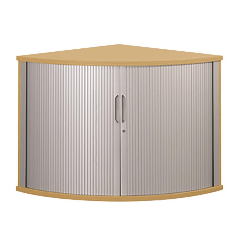 Image for Sonix Tambour Corner Cupboard 800mm Natural Oak