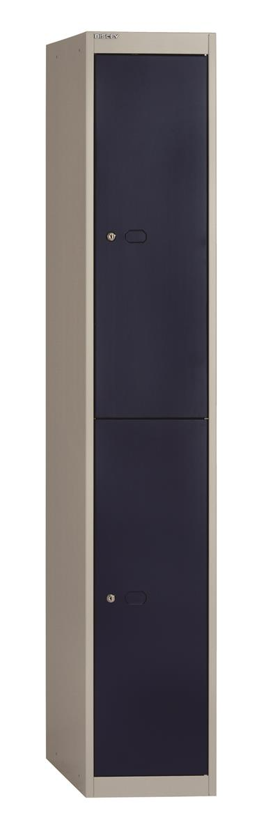 Image for Bisley Steel Locker 305 Two Door Grey/Blue