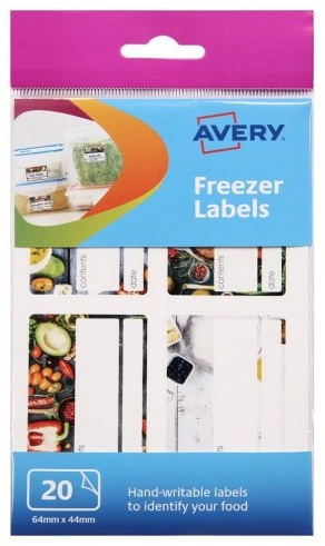 Avery Freezer Labels Removable Pre-printed Ref 60-126 [20 Labels]
