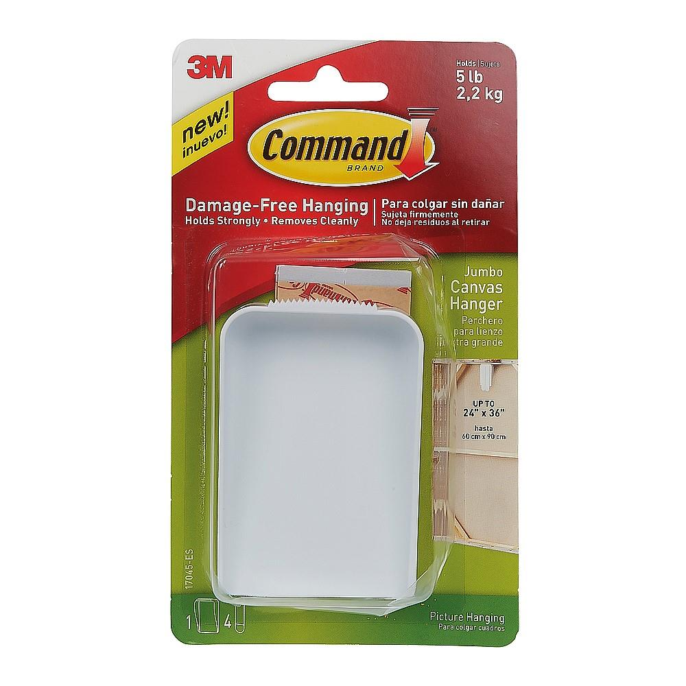 Image for Command Hanger for Canvas Artwork Damage-free Hanging with 4 Strips Large Ref 70006954393